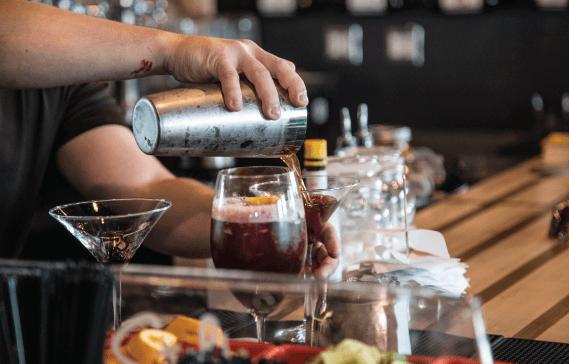 Proof Gastropub Rainbow Cocktail Pour
